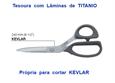 """Imagem de TSR900557 ... Tesoura de Costura """"KAI"""" com Lâminas de TITANIO Própria para KEVLAR - 240mm"""