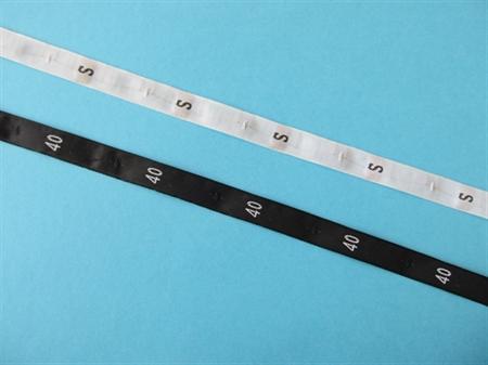 Imagem de ETQ151040 ... Fita em Tecido com Etiquetas para Tamanhos com NUMEROS ou LETRAS