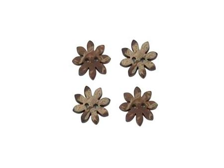 """Imagem de BTW009528 ... Botões de Côco """"Flores Pequenas"""""""
