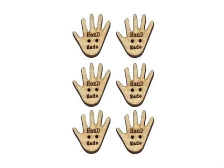 """Imagem de BTW009524 ... Botões de Côco """"Hand Made"""""""