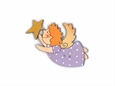 """Imagem de BTW008744 ... Botão de Madeira """"Angel"""" - (5x4,5cm)"""