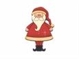 """Imagem de BTW008750 ... Botão de Madeira """"Santa"""" - (5,5x8cm)"""
