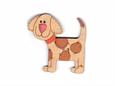 """Imagem de BTW008788 ... Botão de Madeira """"Chuleta The Dog"""" - (5,5x5,3cm)"""