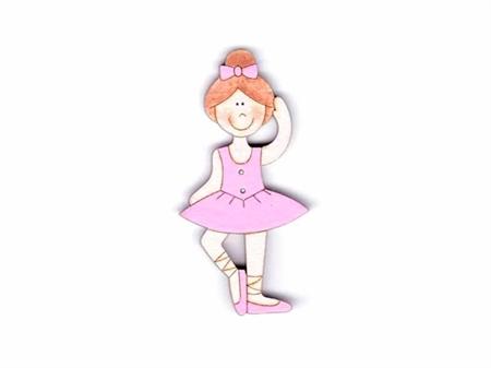 """Imagem de BTW008773 ... Botão de Madeira """"Ballerina"""" - (3x6,5cm)"""