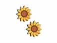 """Imagem de BTW008718 ... Botões de Madeira """"Pair Of Sunflowers"""" - (3,7x3,8cm)"""