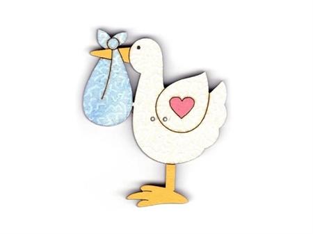 """Imagem de BTW008841 ... Botões de Madeira """"Stork"""" - (4,3x5cm)"""