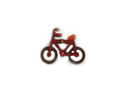 """Imagem de BTW008855 ... Botão de Madeira """"Bicycle"""" - (4x5,5cm)"""