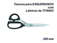 """Imagem de TSR900558 ... Tesoura de Costura """"KAI"""" para ESQUERDINOS com Lâminas de TITANIO - 250mm"""