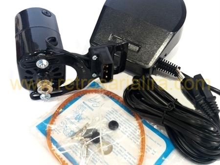 Imagem de PMC-MOTOR-100 ... Motor Externo para Máquina de Costura Doméstica (PRETO)