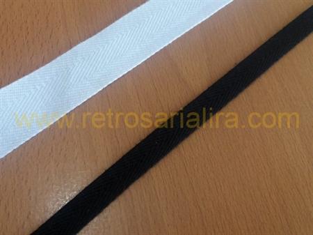 Imagem de FTC000192 ... Fita Sarjada em Algodão (Branco ou Preto)