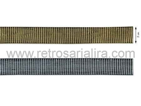 Imagem de FTD053017-020 - Fita Galão Canelada Metalizado (20mm)
