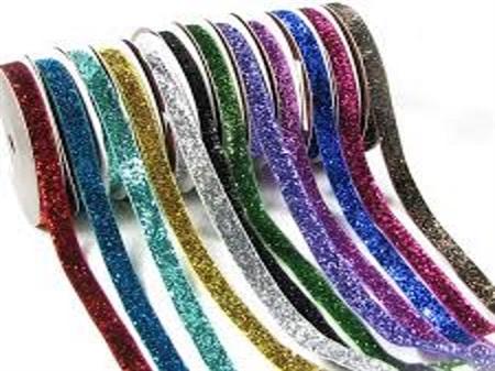Imagem de FTV460206-010 ... Fita de Veludo com Glitter (Metalizada)